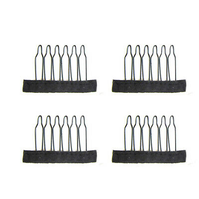 10Pcs 6/8 Teeth Stainless Steel Wig Combs For Hairpiece Wig Caps Hair Clamp Clip