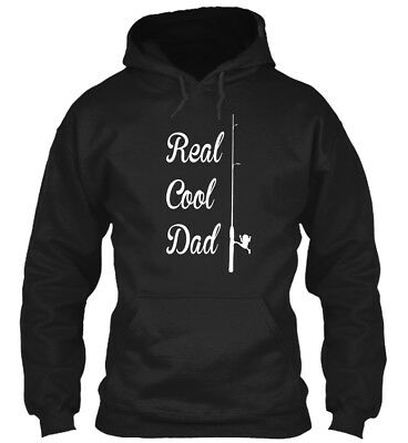 In style Cool Fishing Dad Funny Fathers Day - Real Standard College Hoodie