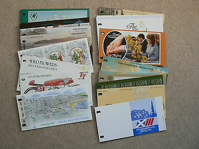 Isle of Man Presentation Packs, Sold Individually, 1986, 1987, 1988, MNH Mint