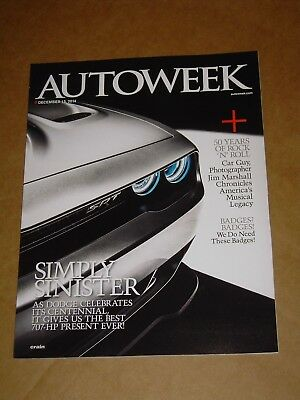 2014 Autoweek 2015 Charger Challenger Hellcat Viper Brochure + Poster Intact