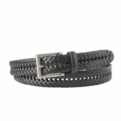 Mens Braided Leather Belt - Big & Tall Sizes Available