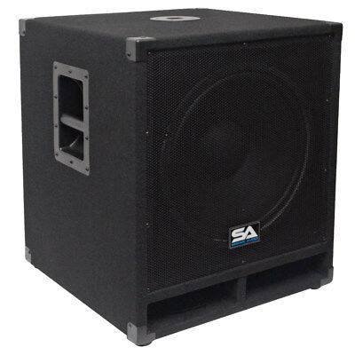 "Seismic Audio 15"" Pro Audio Sub Cabinet PA DJ PRO Audio B& Speaker New Sub  300W"