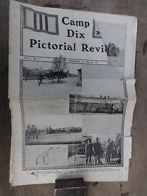 WWI Era US Army Camp Dix Pictorial Review - May 20, 1918 AS IS No Reserve