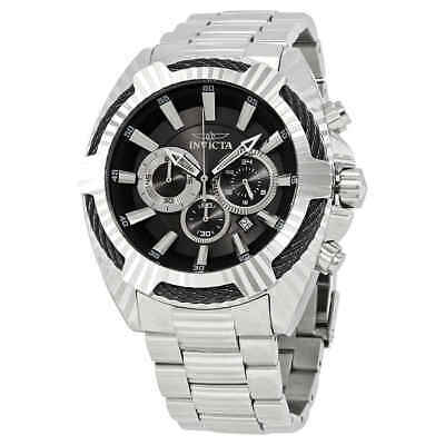 Invicta Bolt Chronograph Black Dial Stainless Steel Men's Watch 27190