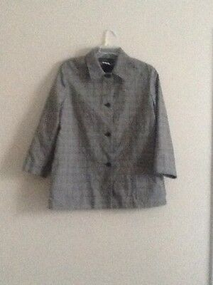 harve bernard Women's Jacket Suit Blazer Casual Formal Career Size 16 3/4 Sleeve