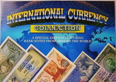 International Currency Collection Colourful Album - Money Banknotes Uncirculated