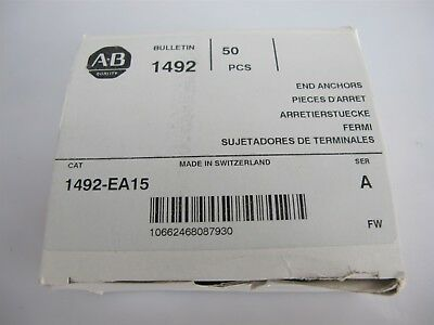 Allen Bradley Terminal Block End Anchor 1492-EA15 - Box of 50