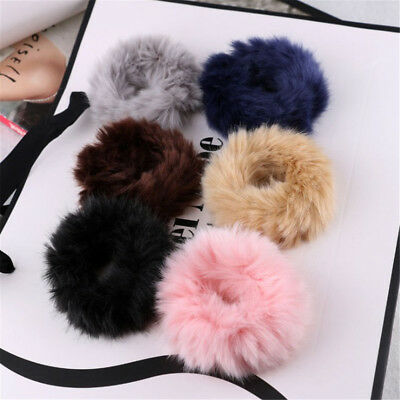 New Soft Fluffy Faux Fur Fuzzy Scrunchie Elastic Hair Ring Rope Hair Accessories
