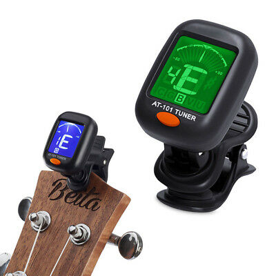 Chromatic LCD Clip-on Electronic Digital Tuner For Bass, Guitar, Ukulele, Violin