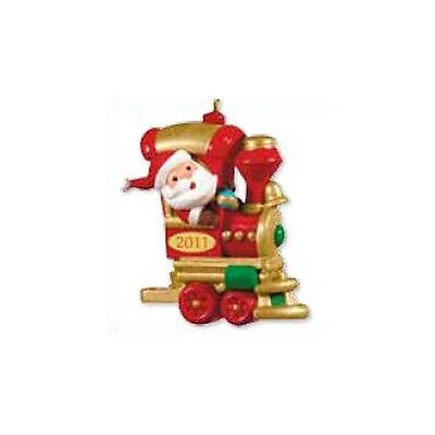 2011 Hallmark Miniature Ornament CHOO CHOO CHEER Santa's Holiday Train #1/5