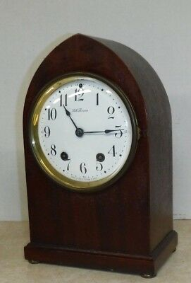 Antique Seth Thomas Chime Key-Wind Mahogany Gothic Bracket Clock Working