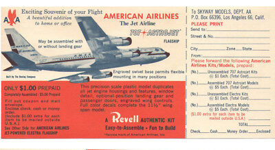 VTG 1950s AMERICAN AIRLINES REVELL MODEL ORDER FORM! BOEING 707/LOCKHEED ELECTRA