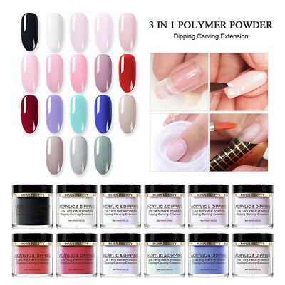 BORN PRETTY 10ml 3 IN 1 Polymer Acrylic Dipping Powder Nail Art NO UV Pro Kit
