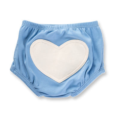 BNWT Sapling Organic Cotton Unisex Blue Heart Bloomers (many sizes) RRP $12.95