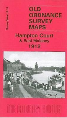 Hampton Court and East Molesey 1912: Surrey Sheet 12.13 (Old Ordnance Survey Map