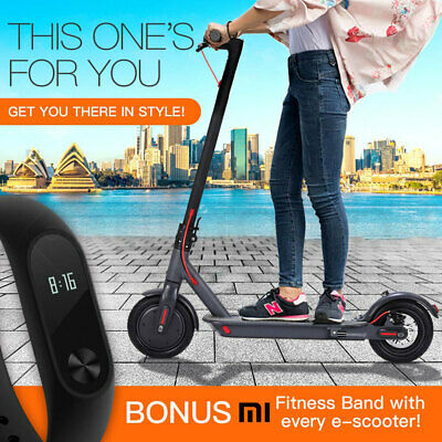 Folding Electric Scooter with Xiaomi Mi Fitness Band 2 - Adults Kids e-Bike