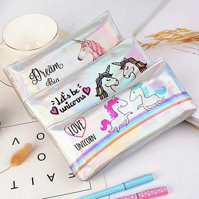 1 Pcs Unicorn Pencil Case for Girls School Supplies Stationery Children Gift