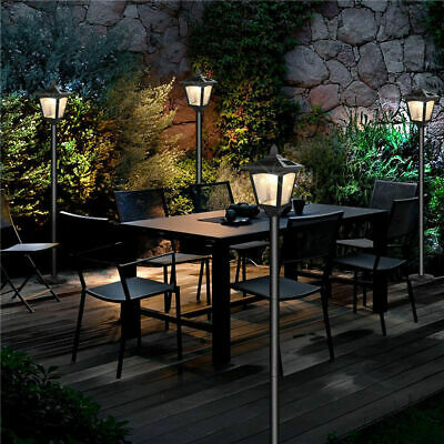 4 Pack 36 inches Solar Powered Garden Outdoor Patio Lamppost Pathway Lights