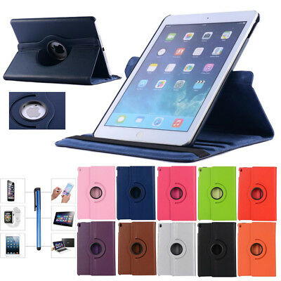 """360 Rotating Case Smart PU Leather Cover for Apple iPad 9.7"""" 2018/2017 Pro Air"""