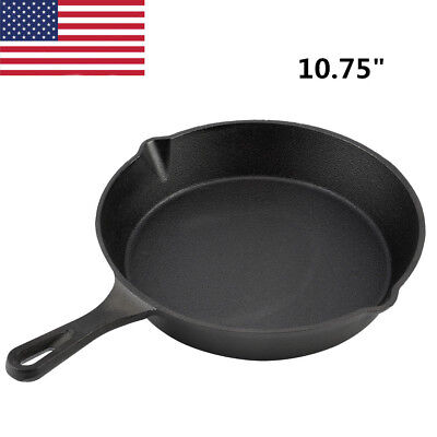 New Cast Iron Skillet Oven Fry Pan Pot Cookware For Gas/Induction Cooker Kitchen