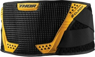 Thor Clinch Motocross MX ATV Off-Road Belt - Color/Size Choices Black/Yellow