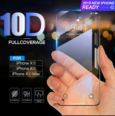 New 10D Curved Tempered Glass Screen Protector Cover Film For iPhone XS MAX XR
