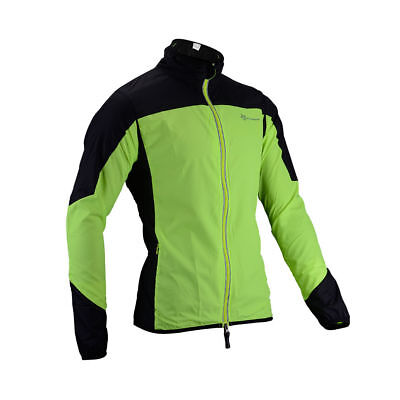 RockBros Reflective Cycling Long Sleeve Polyester Wind Coat Jersey Green Black
