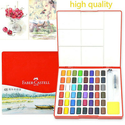 24/36/48Colors Solid Watercolor Paint Portable Pigment Art Supplies Painting