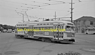 San Francisco Municipal Railway (Muni) Original B&w Trolley Negative Of Pcc 1129