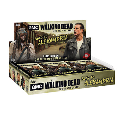 The Walking Dead Road To Alexandria Trading Cards Sealed Box