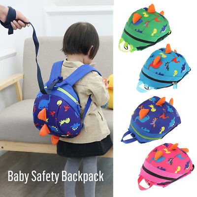 Baby Kids Toddler Safety Harness Strap Anti-lost Leash Cartoon Dinosaur Backpack