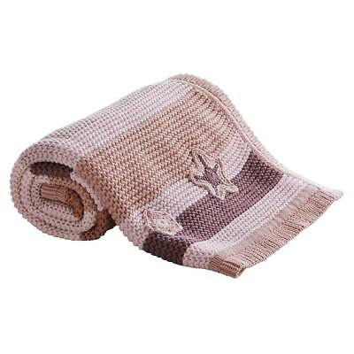 Clair de Lune Pick-N-Mix Cotton Knitted Blanket (Natural) For Baby`s Pram or Cot