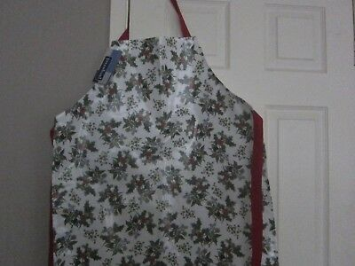portmeirion/pimpernel holly & ivy pvc apron - new with tags