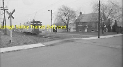 Lehigh Valley Transit (Lvt) Original B&w Trolley Negative Of A Liberty Bell Car