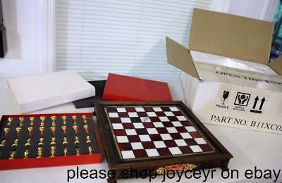 New RARE Franklin Mint Coca Cola Stained Glass Chess Set Great Gift