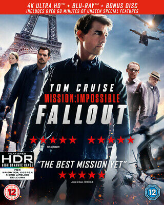 Mission: Impossible - Fallout DVD (2018) Tom Cruise, McQuarrie (DIR) cert 12 3