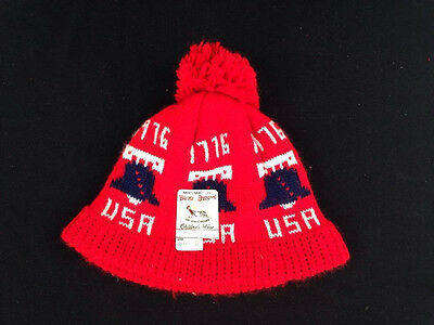 Vintage 1976 BiCentennial Childs Stocking Hat Buster Brown Knit Beanie Deadstock