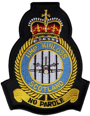 RAF Kinloss 'HMP Kinloss' Royal Air Force MOD Crest Embroidered Patch