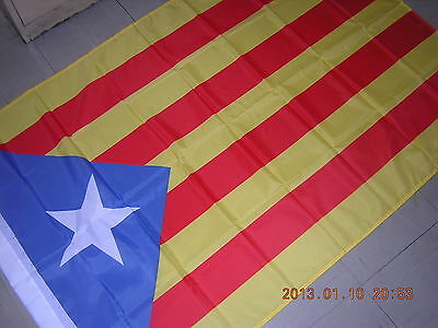 Reproduced Flag of Catalonia Catalan independentism Blue Ensign Spain Barcelona