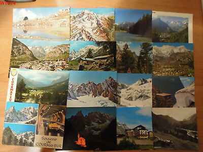 Courmayeur Valle D'aosta Lotto Di 48 Cartoline Bn  E Colore