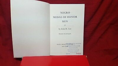 Negro Medal Of Honor Men By Irvin H. Lee~1967~Hb~