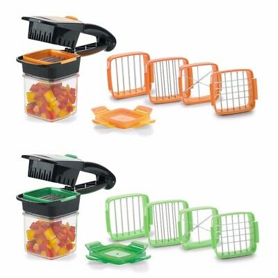 4 Blades Nicer Quick Stainless Steel Vegetable Dicer Chopper Kitchen Slicer 5in1
