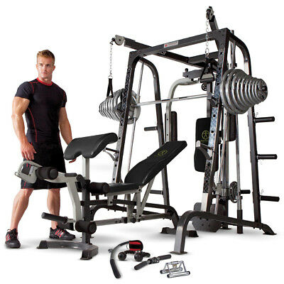 Marcy Diamond Elite MD9010G Smith Machine Home Multi Gym & 140kg Olympic Weights