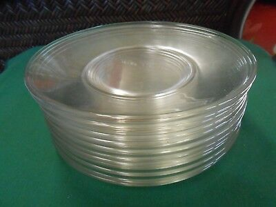 """Great Collectible Vintage Depression Clear Glass-Set of 12 LUNCHEON Plates 8"""""""