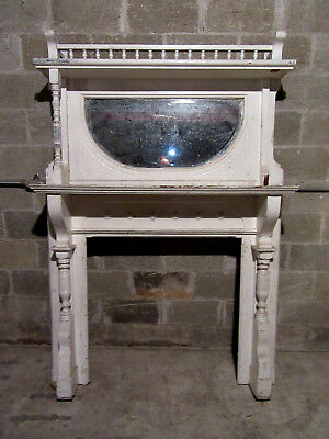 ~ Tall 2 Piece Carved Walnut Fireplace Mantel ~ 54 X 78 ~ Architectural Salvage