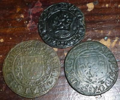 Three Medieval jettons/reckoning counters see both images
