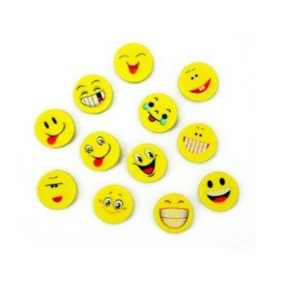 12 Pcs Cute Smile Erasers Set Laughing Emoticon Erasers for Kids School Supplies
