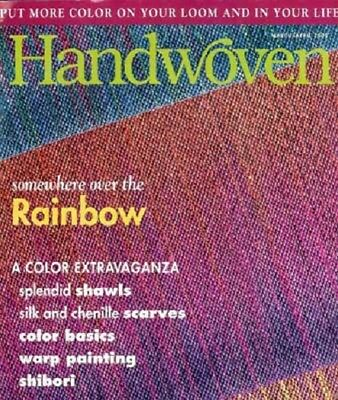 Handwoven magazine mar/apr 2000: shibori, color basics, warp painting, scarves +