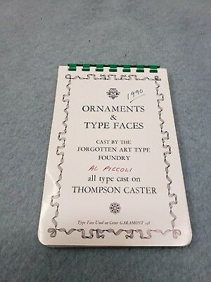 Vintage Letterpress Metal Type Faces-Ornaments-Dingbats-Borders-Corners Catalog