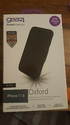 Gear4 Oxford Case for iPhone 6 6s 7 / 8 with D30 Impact Protection Black genuine